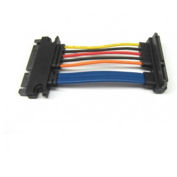 SATA 22 Pin Male to 22 Pin Female Right Angle Cable 8 Inches