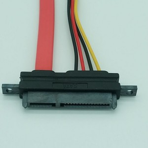 22 pin SATA socket to SATA 7 PIN and small 4 pin cable