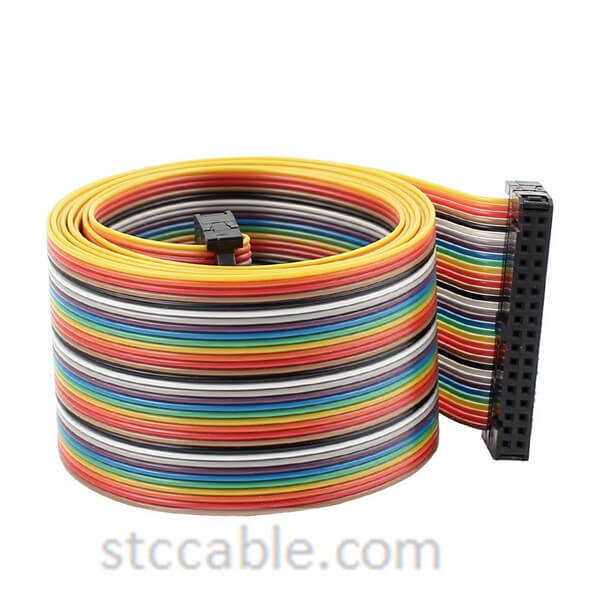2.54mm 34 Pin 34 Way female to female Connector IDC Flat Rainbow Ribbon Cable 55 inch