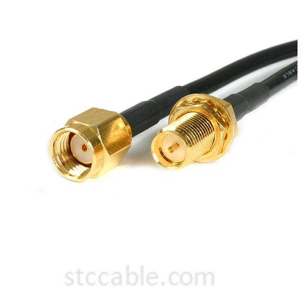 10 ft RP-SMA to RP-SMA Wireless Antenna Adapter Cable – male to female
