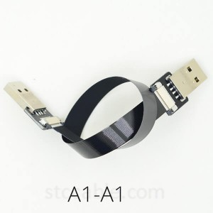 FPV USB 2.0 male to male FFC Super Soft Ultra Thin Flat FPC charging AV output ribbon Cable