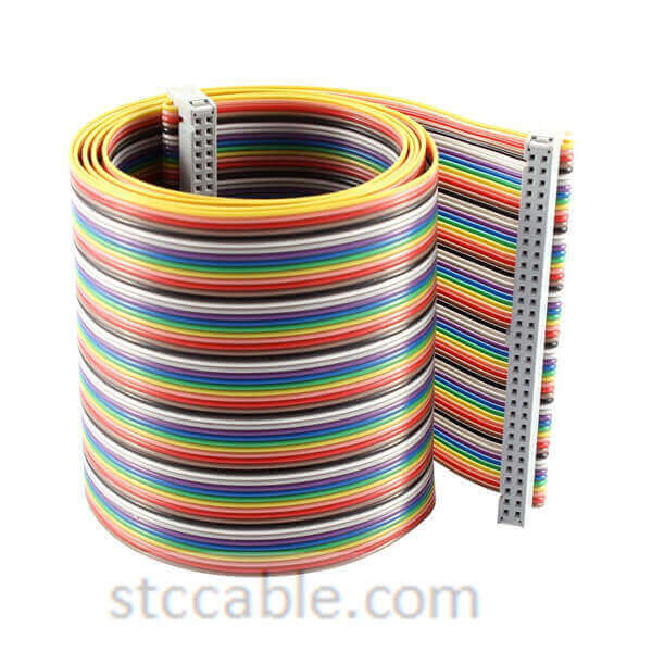 2.54mm Pitch 64 Pin 64 Way female to female IDC Flat Rainbow Ribbon Cable 55 inch