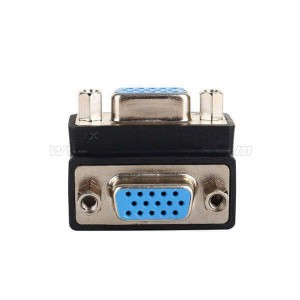 90 Degree Angle Female to Female VGA Adapter