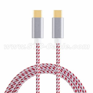 Braided USB 2.0 Type C Data Charging Cable