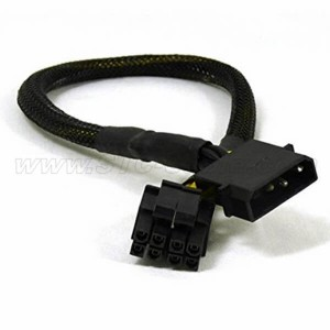 4 Pin Molex ба 8pin сими барқ EPS Black Sleeves