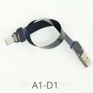 USB 2.0 to type-c male FPV Flat Slim Thin Ribbon FPC Cable