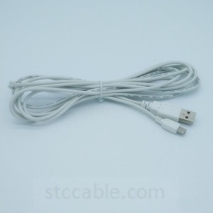 Micro 5pin data and power usb cable white
