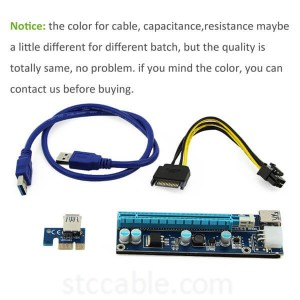 PCI E Express 1X to 16X Riser Card USB 3.0 Cable