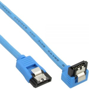 SATA 6Gbs Round Cable blue angled 90 degree