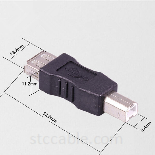 USB2.0 Type A Male to B Female Adapter Connector Cable for Printer Scanner