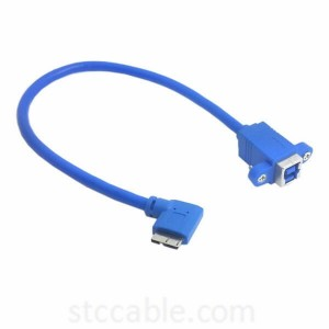 USB 3.0 Type B Female to Mirco B Male 10pin Left angle cable