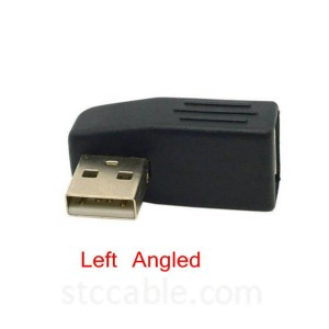 Left & Right angle USB 2.0 Male to Female Extension Adapter