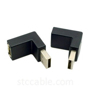 Up & Down Angled 90 Degree USB 2.0 Male to Female Extension Adapter