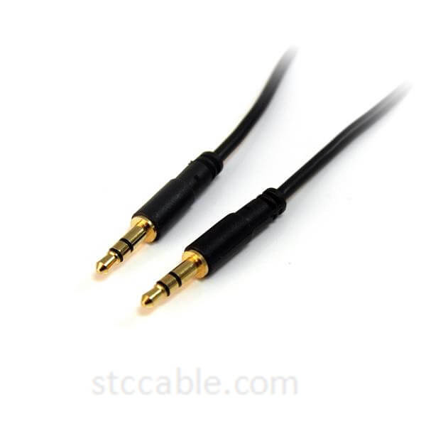 10 ft Slim 3.5mm Stereo Audio Cable – male to male