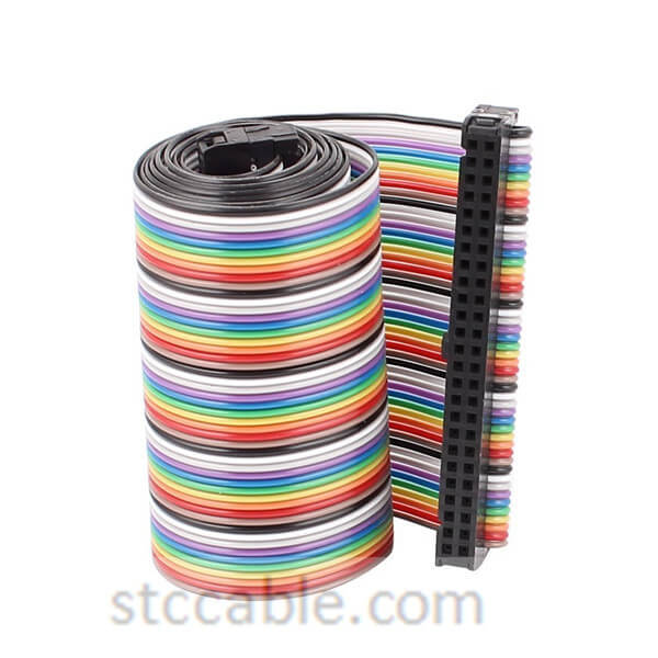 26 inch 2.54mm Pitch 50P 50 Way female to female Rainbow IDC Flat Ribbon Cable Connector