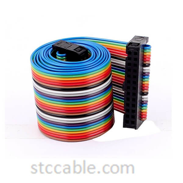 24 inch 2.54mm Pitch 26P 26 Way female to female Rainbow IDC Flat Ribbon Cable Connector