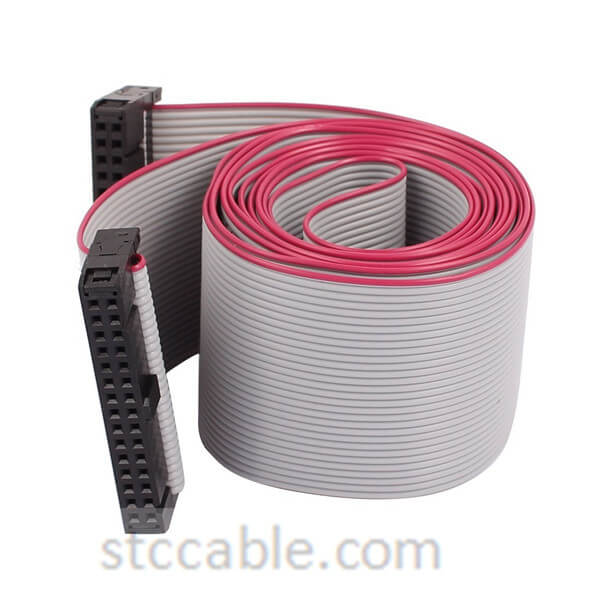 30P 30 Way 2.54mm Pitch female to female IDC Extension Flat Ribbon Cable Gray 50 inch