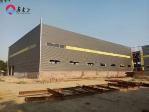 High quality hot dipped galvanized Fabrication steel structural industrial frame workshop shed factory building