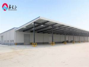 Hisense large span steel warehouse prefab steel warehouse