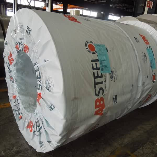 Steel coil packed with VCI PP Woven film