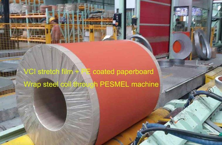 High efficient&safe packaging solution for steel coils