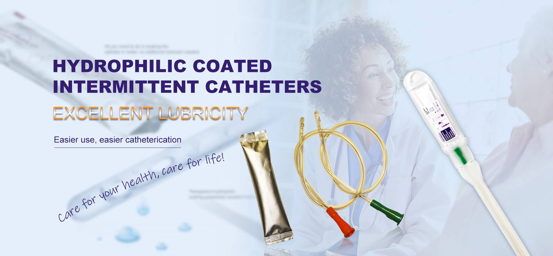 Hyperophilic coated Intermittent Catheters
