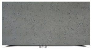 Black floating pattern quartz stone worktops slab