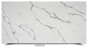 Class A Calacatta White Artificial Quartz Countertops Slab