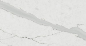 Fine Line Calacatta White Artificial  Quartz Slab