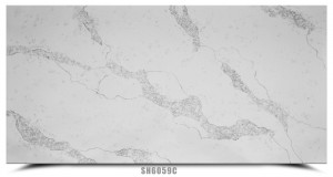 Light Grey Calacatta White Pattern Artificial  Quartz Slab