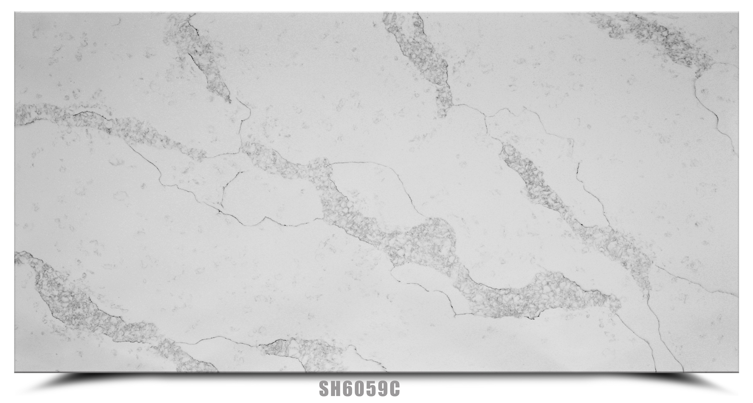 Light Grey Calacatta White Pattern Artificial  Quartz Slab Featured Image