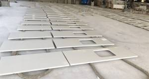 Factory source Engineered White Quartz Slabs -