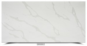 Light color calacatta quartz slab