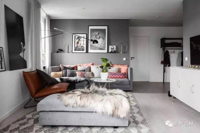 Grey decoration, different styles of beauty