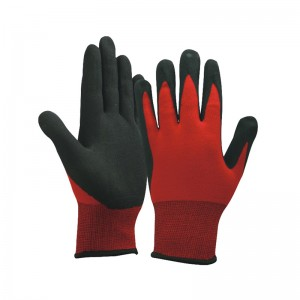 Excellent quality Black Latex Work Gloves -
