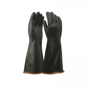 2019 Good Quality Black Latex Work Gloves -
