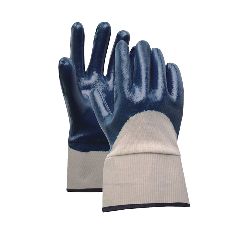Wholesale Safety Knitted Nitrile Gloves -