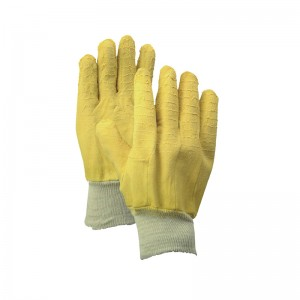 China wholesale yellow Latex Gloves men -