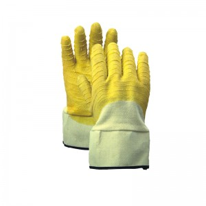 2019 High quality Latex Coated Gloves -