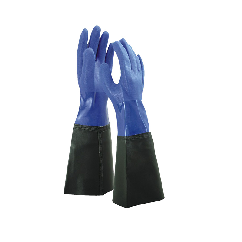 Hot sale Blue Chemical Gloves -