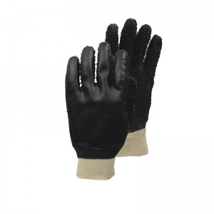 China Cheap price Brown Jersey Gloves With Pvc Dots -
