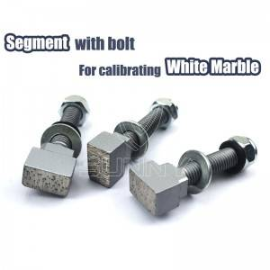 Bolt-Connected Diamond Grinding Segment For Calibrating White Marble