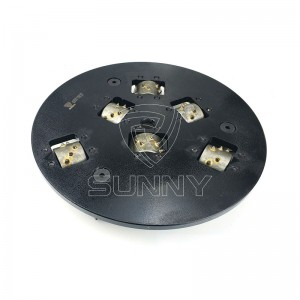 300mm Rotary Stone Bush Hammer Plate With 15 Teethed Heads