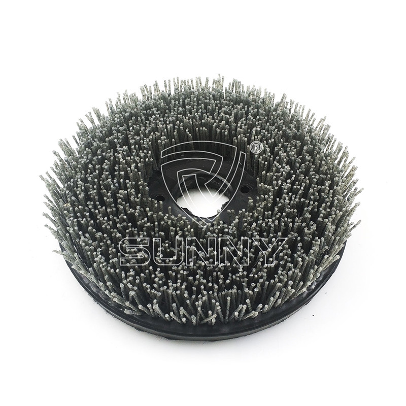 250mm Velcro Backed Diamond Abrasive Brush For Grinding Granite Marble Stones Featured Image