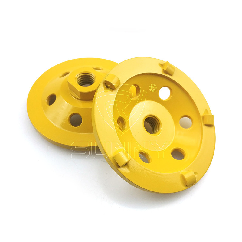 100mm PCD Diamond Cup Wheel For Grinding Epoxy Paint Glue Concrete Floor Featured Image