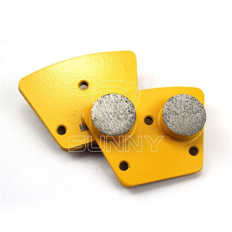2 Round Segments Trapezoid Diamond Grinding Disc For Concrete Terrazzo Floors