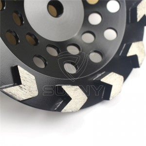 Arrow Type 7 Inch Concrete Grinding Disc Cup Wheel