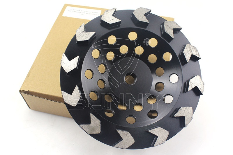 China Arrow Type 7 Inch Concrete Grinding Disc Cup Wheel