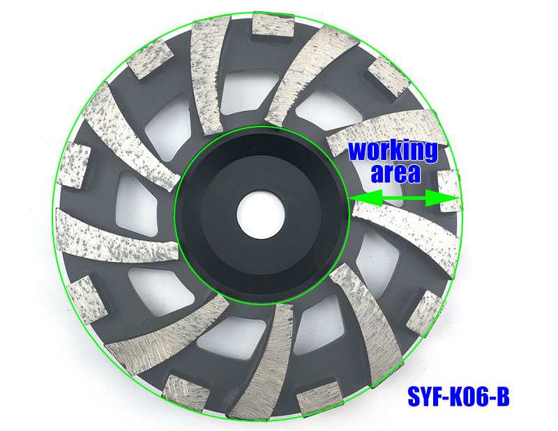 180mm Black Diamond Grinding Wheels For Concrete