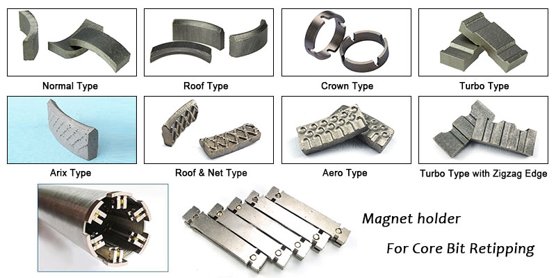 Diamond Core Drill Bit Segments and Magnet Holder